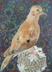 Day 33 - Mourning Dove, Acrylic on 6 X 8 Cradle Board, $88.00.