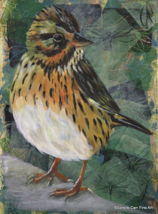 Day 62 - Lincoln's Sparrow, Acrylic on 6 X 8 Cradle Board, $88.00.
